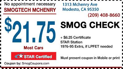 Smog Test Coupons Modesto